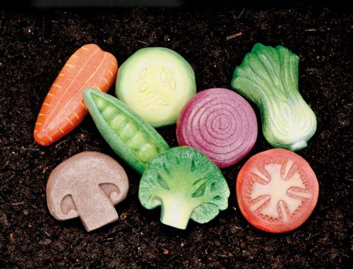 Sensory Play Stones - Vegetables